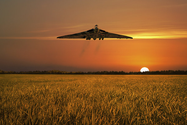 Vulcan Farewell Fly Past Canvas print by J Biggadike