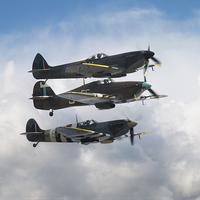 Buy canvas prints of Battle of Britain Fighters by J Biggadike
