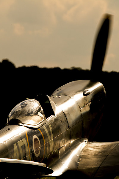 Spitfire TE311 sunlight Framed Print by J Biggadike