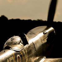 Buy canvas prints of Spitfire TE311 sunlight by J Biggadike
