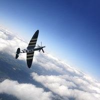 Buy canvas prints of Spitfire Flight by J Biggadike