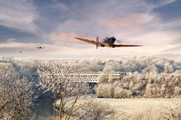 Spitfire Chase Canvas Print by J Biggadike