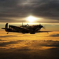 Buy canvas prints of Spitfire In The Sun by J Biggadike