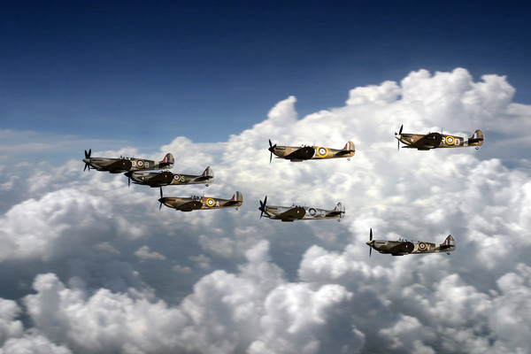 Spitfire Collection Canvas print by J Biggadike