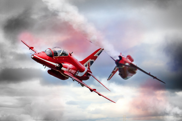 Red Arrows Pass 2016 Print by J Biggadike