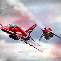 Buy canvas prints of Red Arrows Pass 2016 by J Biggadike