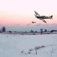 Buy canvas prints of Morning Snowfall by J Biggadike