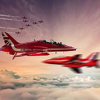 Buy canvas prints of Red Arrows Art  by J Biggadike