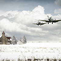 Buy canvas prints of Spitfire Snow Patrol by J Biggadike