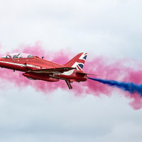 Buy canvas prints of Red Arrows Smoke On by J Biggadike