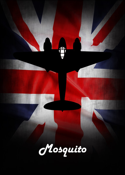 de havilland Mosquito Union Jack Canvas print by J Biggadike