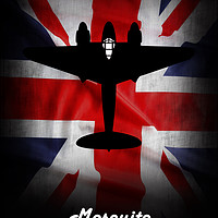 Buy canvas prints of de havilland Mosquito Union Jack by J Biggadike