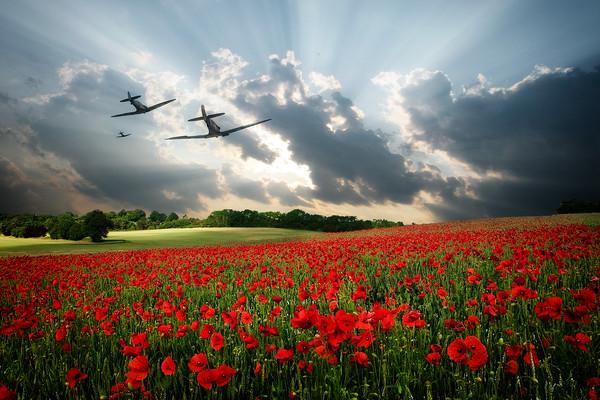 Spitfires - The Last Mission Canvas print by J Biggadike
