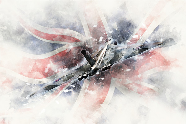Vulcan Bomber - Painting 2 Canvas Print by J Biggadike