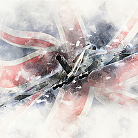Buy canvas prints of Vulcan Bomber - Painting 2 by J Biggadike