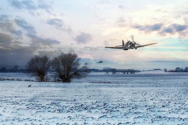 Snow In The Fields Canvas Print by J Biggadike