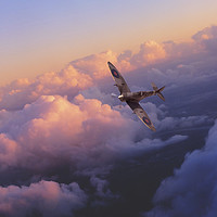 Buy canvas prints of Spitfire Hour by J Biggadike