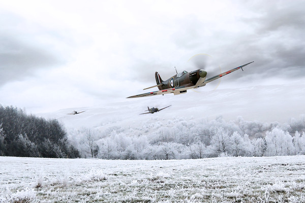 Home Through The Snow Canvas Print by J Biggadike
