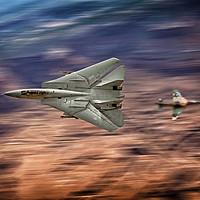 Buy canvas prints of Top Gun Dog Fight by J Biggadike