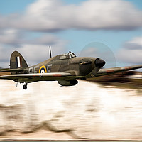 Buy canvas prints of Hurricane and the White Cliffs by J Biggadike