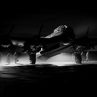 Buy canvas prints of Lancaster Bomber Ghost Crew by J Biggadike