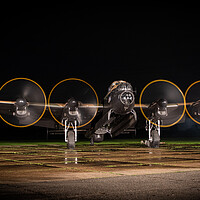 Buy canvas prints of Lancaster Bomber Engine Run by J Biggadike