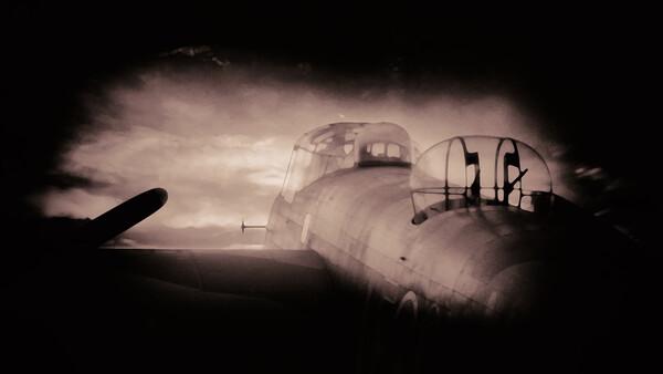 Vintage Lancaster Bomber Framed Print by J Biggadike