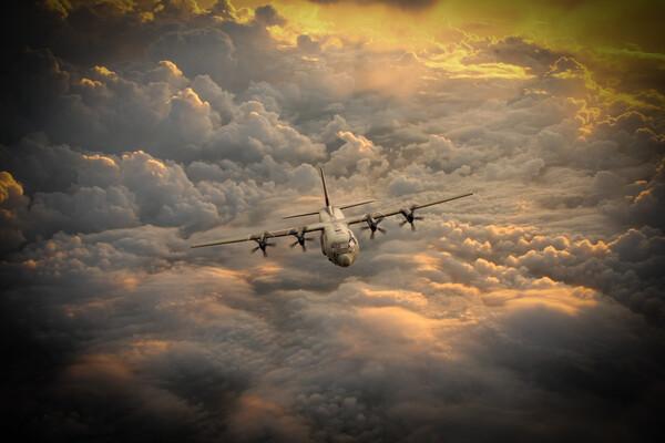 RAF C-130 Hercules Canvas Print by J Biggadike