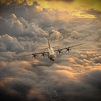 Buy canvas prints of RAF C-130 Hercules by J Biggadike