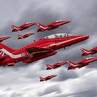 Buy canvas prints of Red Arrows 9 by J Biggadike