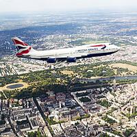 Buy canvas prints of British Airways Boeing 747 by J Biggadike