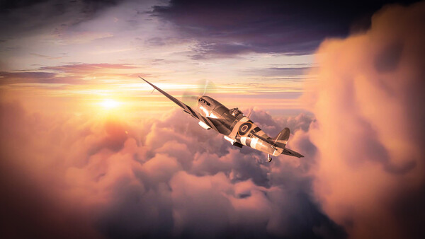 Spitfire - Best Seat In The House Canvas Print by J Biggadike