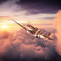 Buy canvas prints of Spitfire - Best Seat In The House by J Biggadike