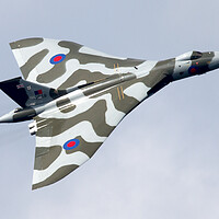 Buy canvas prints of Vulcan Bomber Topside by J Biggadike