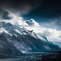 Buy canvas prints of Vulcan Mountain Pass by J Biggadike