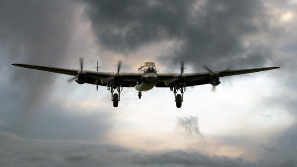 Lancaster Bomber Homeward Framed Print by J Biggadike