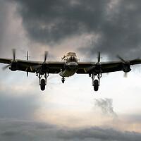 Buy canvas prints of Lancaster Bomber Homeward by J Biggadike
