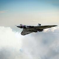 Buy canvas prints of Vulcan Bomber Clouderider by J Biggadike