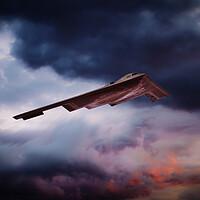 Buy canvas prints of B-2 Sunset by J Biggadike