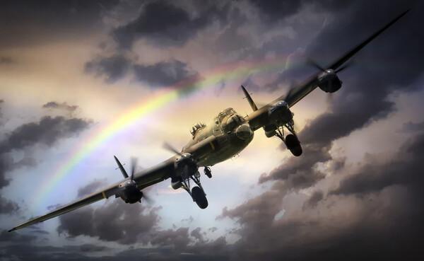 Lancaster Passing Storm Framed Mounted Print by J Biggadike