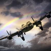 Buy canvas prints of Lancaster Passing Storm by J Biggadike
