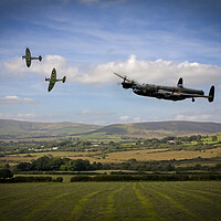 Buy canvas prints of Lancaster Homeward Bound by J Biggadike