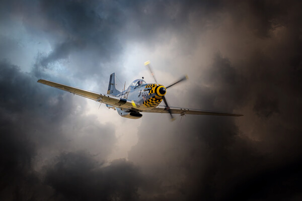 P-51 Mustang Storm Framed Print by J Biggadike
