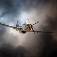 Buy canvas prints of P-51 Mustang Storm by J Biggadike