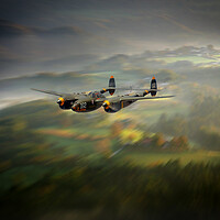 Buy canvas prints of P38 Lightning Run In by J Biggadike