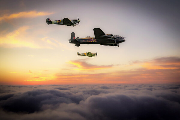 Battle of Britain Memorial Flight Framed Print by J Biggadike