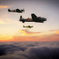 Buy canvas prints of Battle of Britain Memorial Flight by J Biggadike