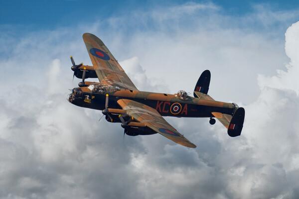 Lancaster Bomber Topside Framed Print by J Biggadike