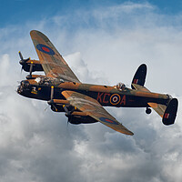 Buy canvas prints of Lancaster Bomber Topside by J Biggadike