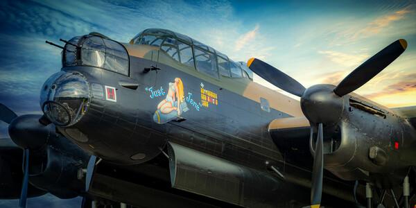 Lancaster Bomber Just Jane Framed Print by J Biggadike